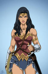 Diana of Themyscira (Earth-27) commission by phil-cho