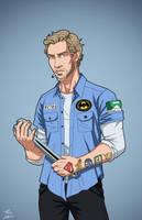 Chad 'Retro' Graham (Earth-27) commission by phil-cho
