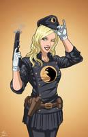 Lady Blackhawk (Earth-27) commission by phil-cho