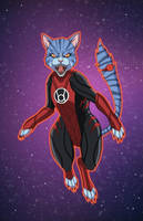 Red Lantern Dex-Starr by phil-cho
