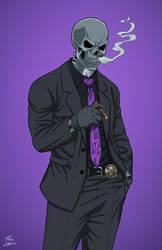 Director Bones (Earth-27) commission by phil-cho