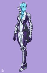 Iyra Aldonia (Mass Effect OC) commission by phil-cho