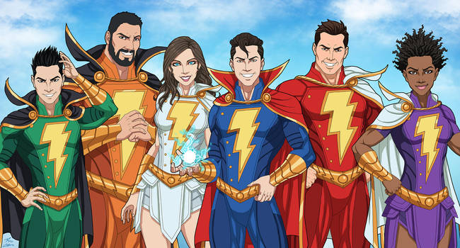 Shazam Family (Earth-27) by phil-cho