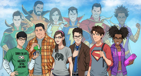 Shazam Family v.2 (Earth-27) by phil-cho