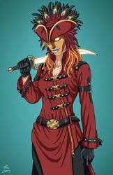 Psycho Pirate (Earth-27) commission by phil-cho