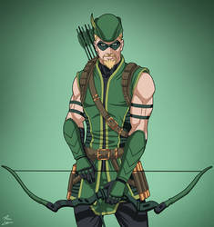Green Arrow [2007] (Earth-27) commission by phil-cho