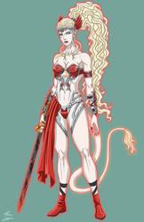 Ellie Infernal Armor Devil OC commission by phil-cho