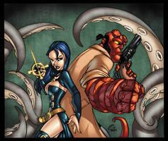 Nix n Hellboy colored by TheBob74