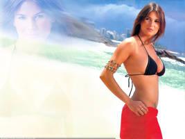Ursula Vargues Wallpaper Beach by DaFeBa