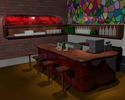 Bar interior by DaFeBa