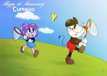 Happy Anniversery Cuphead by 6-O-Hundred657