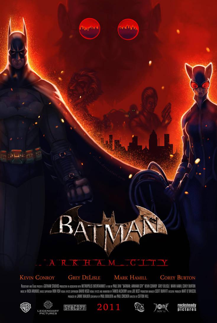 Arkham City Movie Poster Finale by ElJore