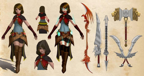 Original Character - Weapon Mage Carabelle by Artichoo