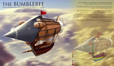 Bumblebee Airship by Artichoo