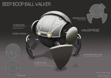 Beep Boop Ball Walker by Artichoo