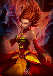 Lina the Slayer - Fiery Maiden - DOTA 2 by Artichoo