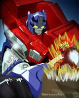 +::Optimus Prime VS Goku::+ by Banryuunokizu