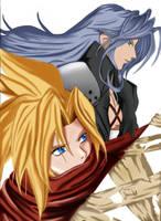 -+Cloud Sephiroth-+ WIP 2 by Banryuunokizu