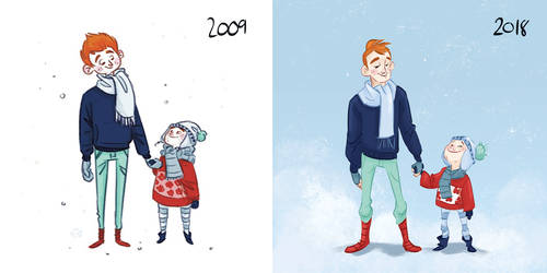Then and now by Lelpel