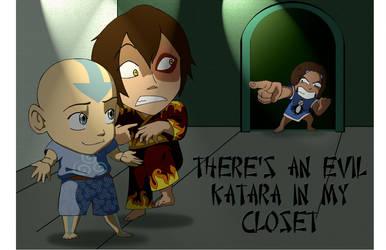Evil Katara in my closet... by StormAkima