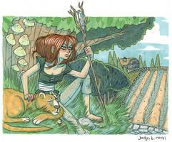 sleepy fantasy lion by yfrontninja