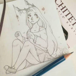 sketched girl  by Starlight-waltz