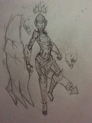 Zrada, hand of the shadow isles by flyingjr688