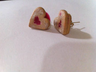 Jelly-filled Cookie Stud Earrings by TheYellowHobbit