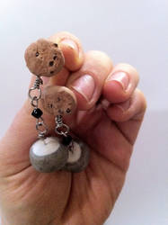 Cookies 'n Milk Earrings by TheYellowHobbit