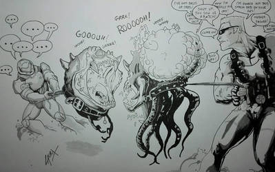 Cacodeamon Vs Octabrain! by ArdathLilitu