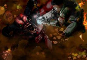 D00m- demon fighter by ArdathLilitu