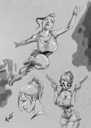 Lara sketch by ArdathLilitu