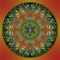 Mandala 14 collaboration with Myronavitch by Mandala-Jim