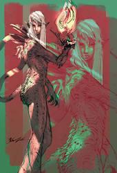 sketch 02 Dragon Lady by yonax