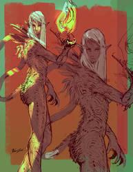 Dragon Lady sketch by yonax