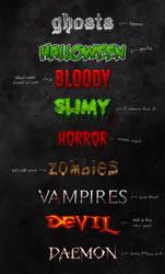 Horror Text Styles by erigongraphics