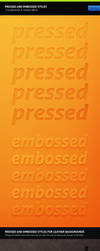Pressed And Embossed Styles by erigongraphics
