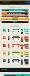Retro Web Elements by erigongraphics