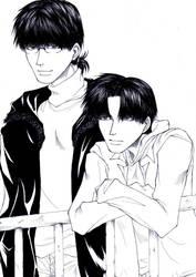 Kubota and Tokitou by OjouLaFlorDeNieve