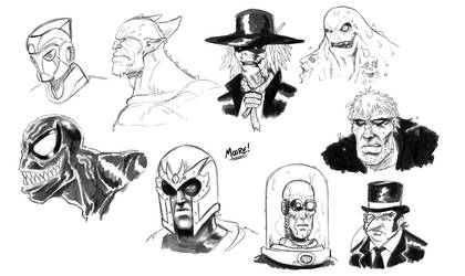 Villainous Visages by SeanRM