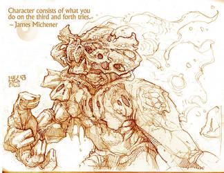 Rhino-Stag by Chuck-Lukacs