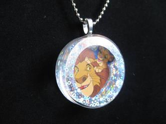 Lion King Super Slammer BIG POG Necklace by DarkSaberCat