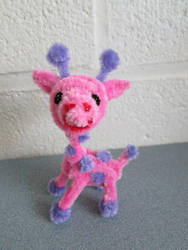 Pipe Cleaner Pink Giraffe by DarkSaberCat