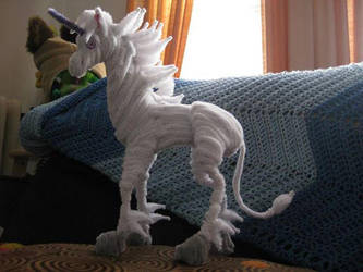 Pipe Cleaner Tall Unicorn by DarkSaberCat