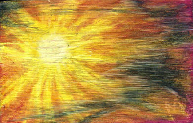 Sun with Hazy Sky I by FettFan79