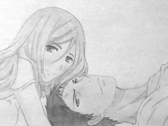 Aomine Daiki and Momoi Satsuki by Mayu012