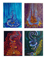 The Four Elements by Moonsquirrel
