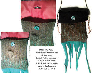 Forestial Pouch - Medicine Bag by Moonsquirrel