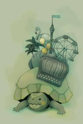 Accordion Turtle by birnimal