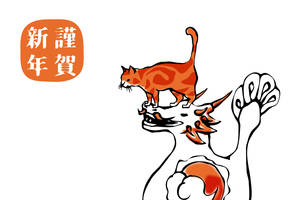 dragon and cat - New Year 2012 by birnimal